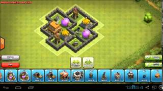 Clash of clans- Layout centro de vila nível 4 ( Hibrido )