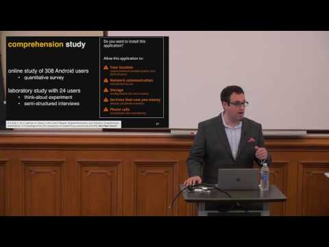 From Theory to Practice: Empowering Users to Make Privacy Decisions (Serge Egelman)