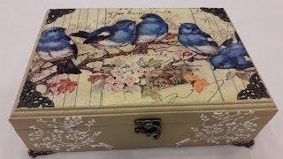 Decoupage box-Decoupage box with rice paper-DIY