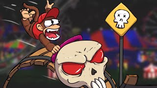 ACIDENTE NA MONTANHA RUSSA! - DONKEY KONG ON FIRE #11