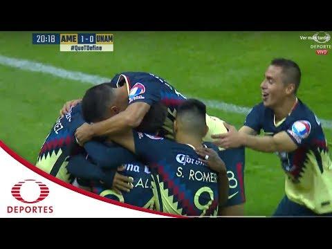 Gol de Oribe | América 1 - 0 Pumas | Apertura 2017 - Jornada 3 | Televisa Deportes