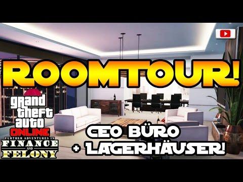 GTA 5 Online - CEO Maze Bank Büro & Lagerhäuser ROOMTOUR! [Finance And Felony Update]