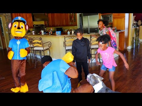 SURPRISING MY KIDS WITH A GIANT DANCING MASCOT!
