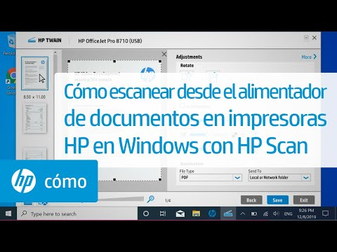 Cómo escanear desde el alimentador de documentos en impresoras HP en Windows con HP Scan