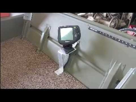 fishfinder mount homemade for jon boat - youtube, Fish Finder