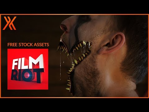How To Create A Pennywise Mouth Opening Effect Free Film Riot Stock Youtube