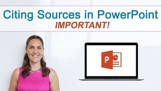 How to cite souŗces in PowerPoint | It's important
