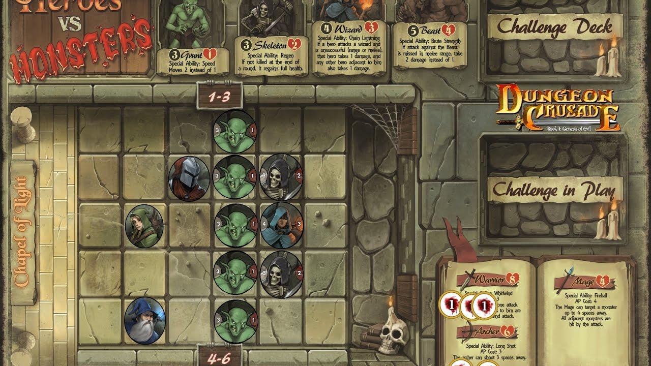Dungeon Crusade Heroes vs Monsters reveal - YouTube