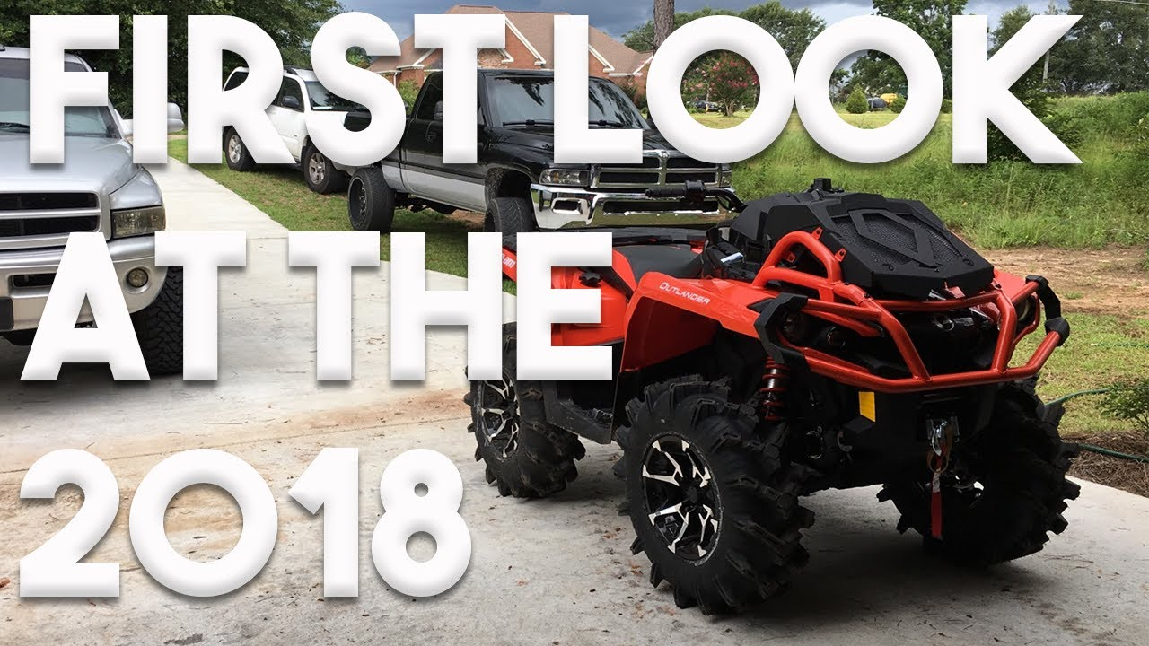 Can Am Xmr >> NEW 2018 Can-Am Outlander 850 XMR! - YouTube