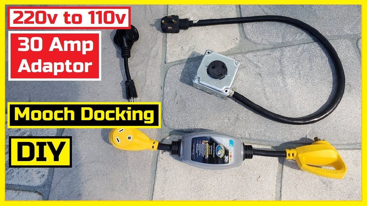 Mooch Docking Power with a 20 Amp, 20v to 20 Amp, 20v Adapter Indoor Use  Only