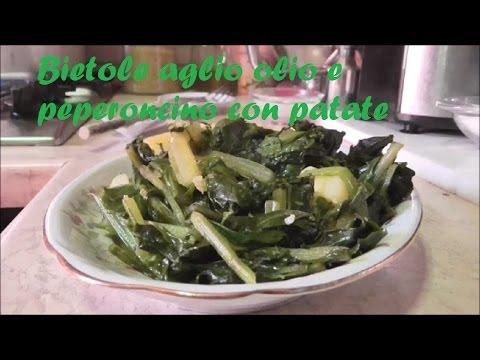bietole aglio olio e peperoncino - youtube - Cucinare Bieta