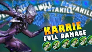 KARRIE 4 PENTAKILLS IN ONE GAME! FULL DAMAGE BUILD!
