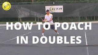 tennis tip how to poach in doubles net domination video 2
