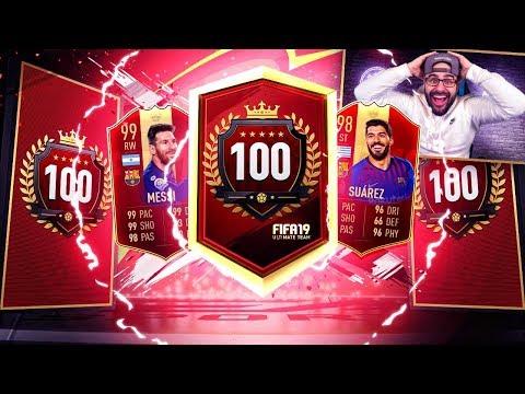 OMG INSANE TOP 100 REWARDS! 11 LA LIGA TOTS PLAYER PACK! FIFA 19 Ultimate Team!
