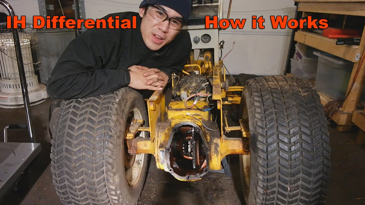 hight resolution of the inner workings of an international harvester cub cadet rear differential