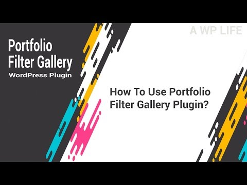 Portfolio Filter Gallery WordPress Plugin - How To Use Portfolio Filter Gallery Plugin