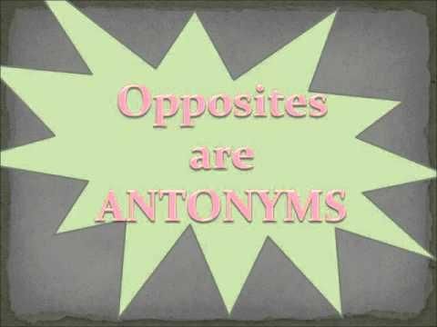 Antonyms are Opposites.wmv
