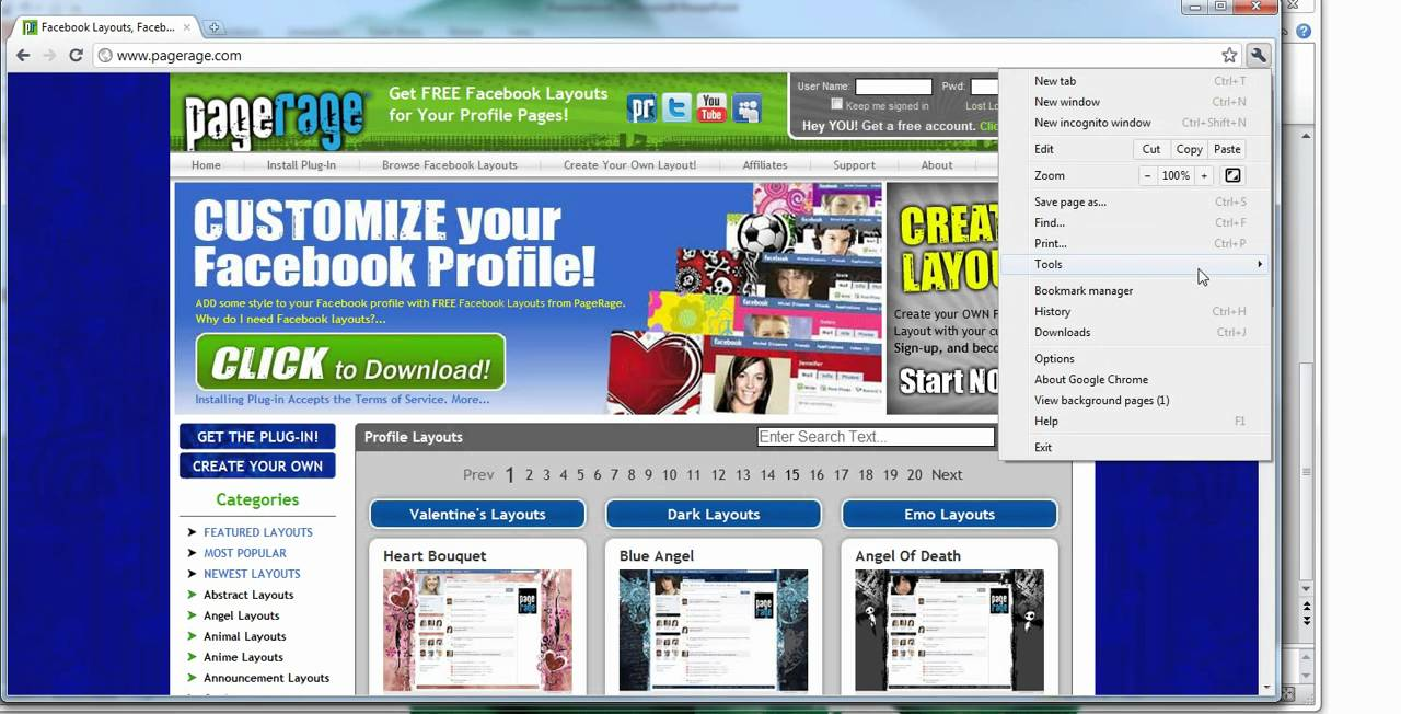 how to clear facebook cache chrome