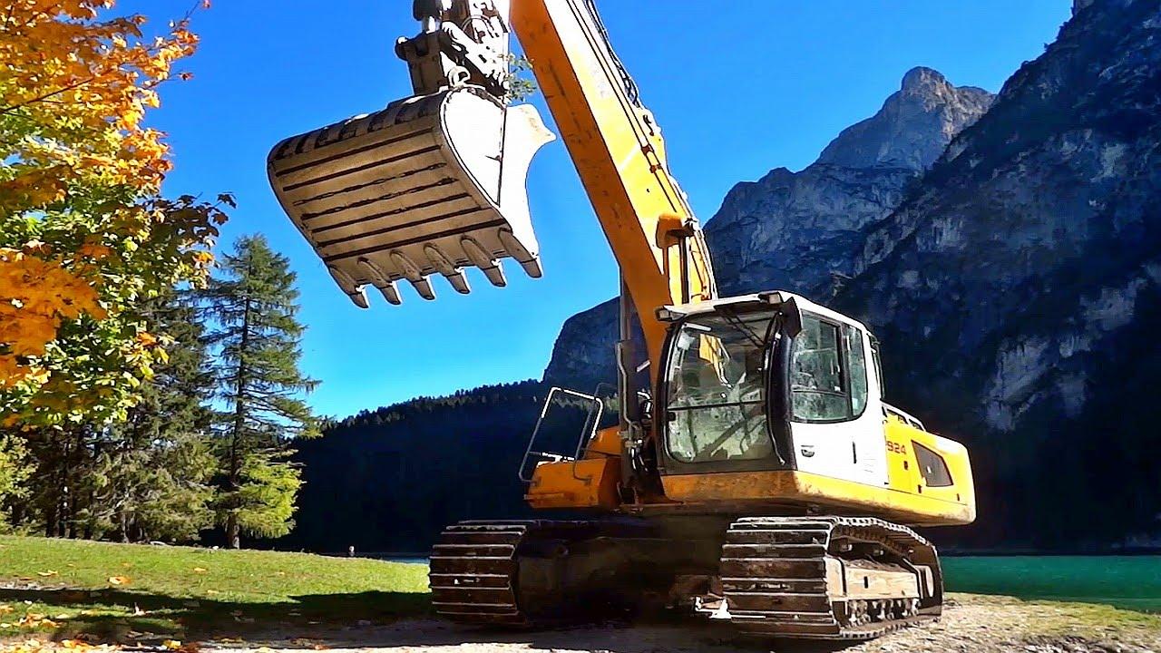 Liebherr Bagger Excavator Gibt Alles Im Einsatz Digger In Action At Work