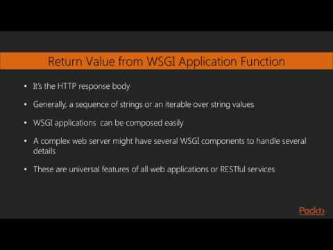 Modern Python Solutions - Part 3 : Implementing Web Services with WSGI | packtpub.com