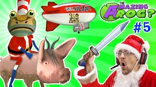 AMAZING FROG SANTA rides DEMON PIG MERRY FARTING CHRISTMAS Blimp Crashing 3x Rollover Part 5