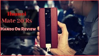 Huawei Mate 20 RS (Porsche Design) Hands On Review |Specifications |Concept |Design |Looks|Price