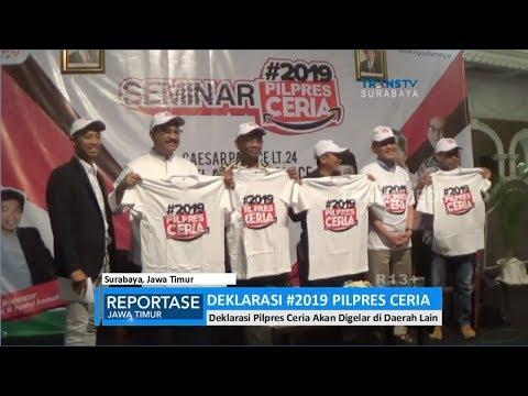 Deklarasi #2019PilpresCeria Di Surabaya