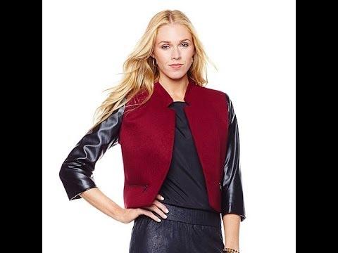 By Giuliana Rancic Mixed Media Cropped Jacket