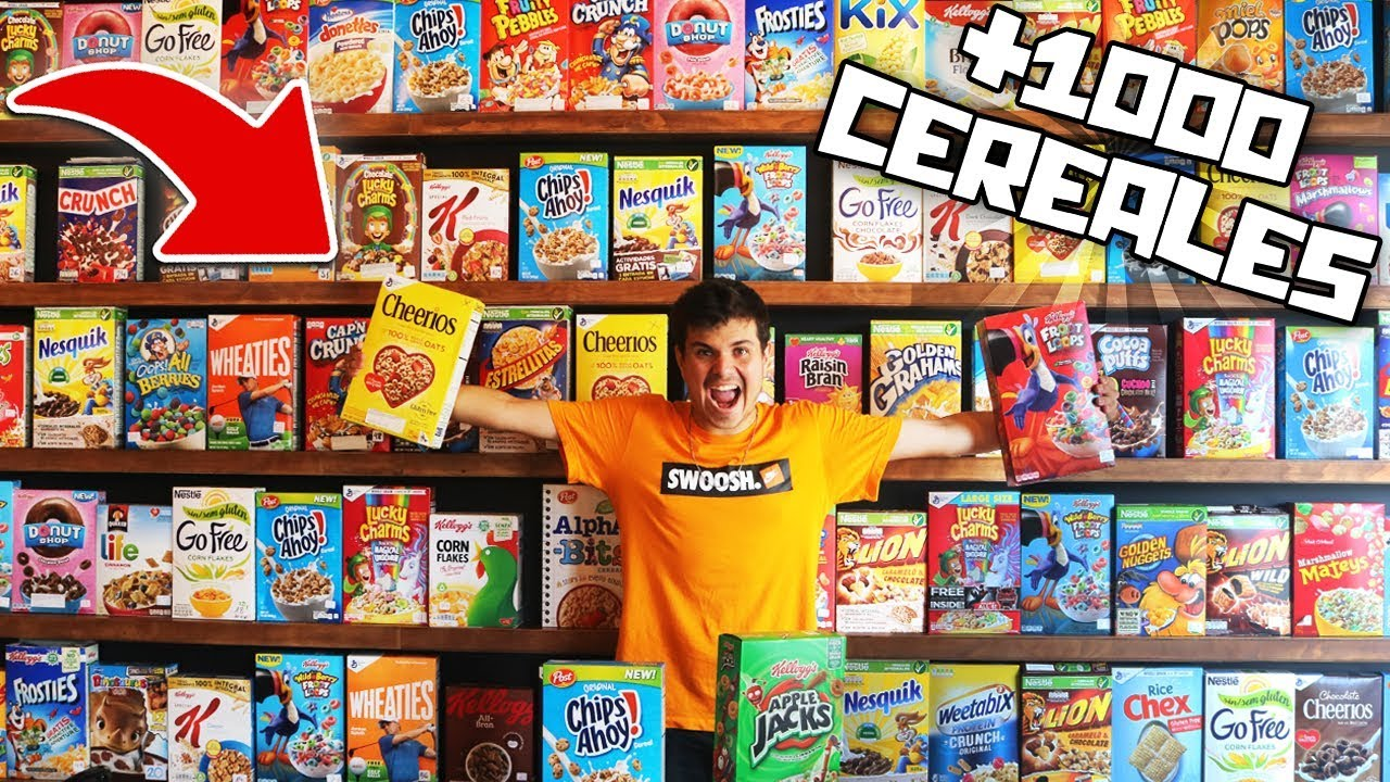 Mezclamos Todos Los Cereales Del Mundo 1000 Cereales Youtube