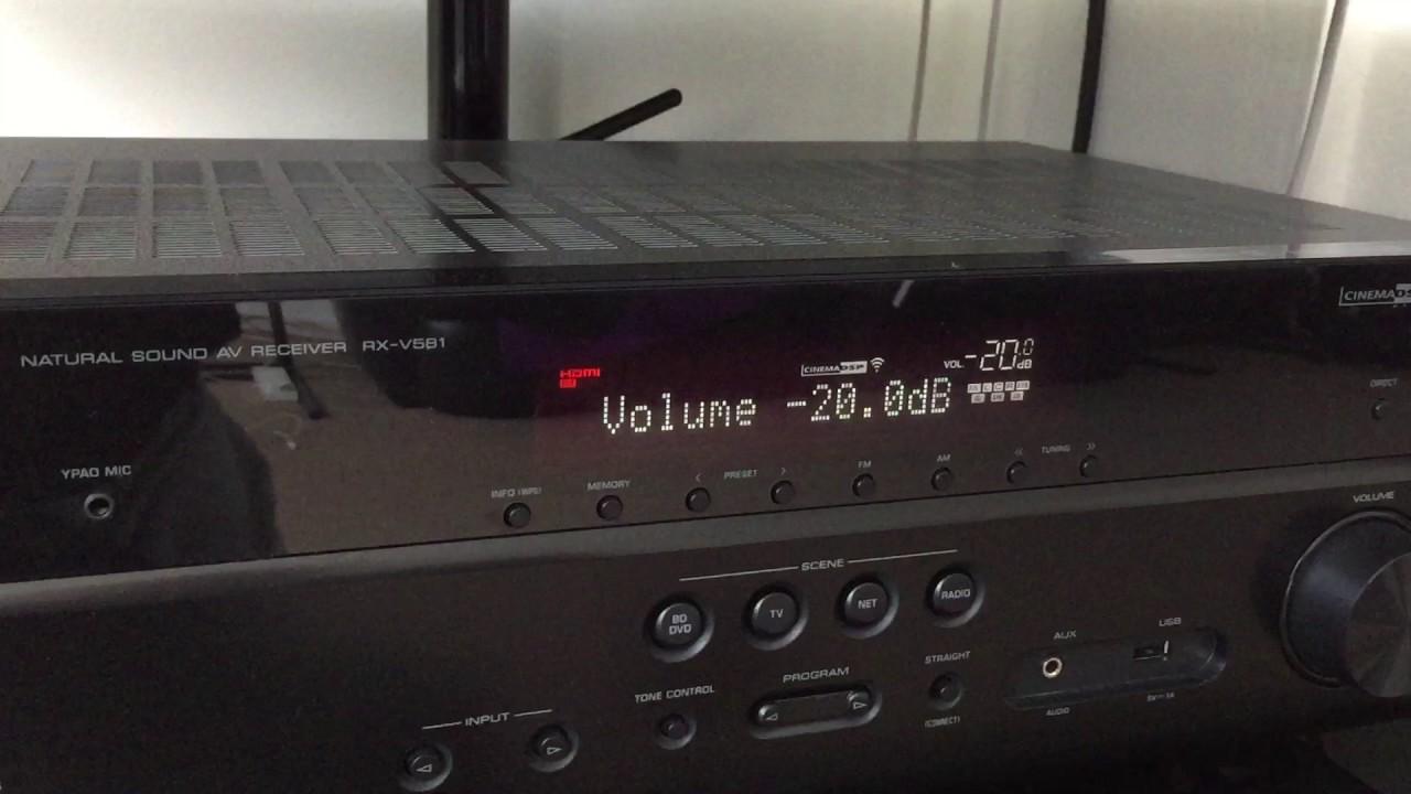 yamaha rx-v581 av receiver audio drops via hdmi - youtube