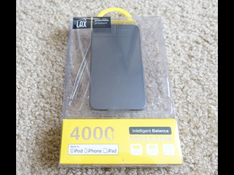 LAX 4000 mAh Slim and Compact Portable Power Bank Review