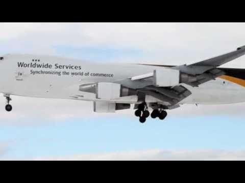 Excellent Landing to Anchorage International Airport, Alaska, Boeing 747-44AF