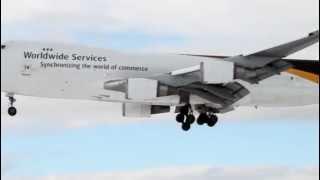 Excellent Landing to Anchorage International Airport, Alaska, Boeing 747-44AF