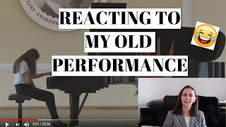 Reacting To My Old Performance