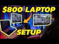 How to Create an EPIC Laptop Gaming SETUP - $800 build