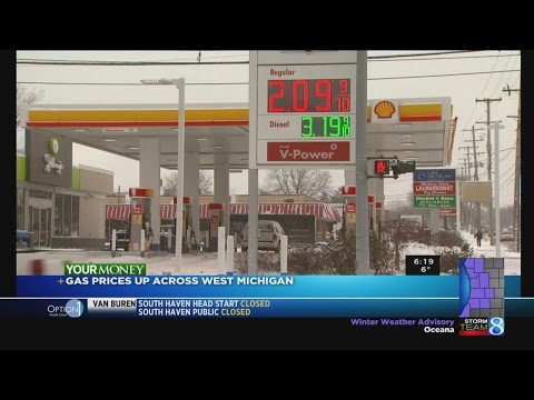 Gas prices back up above $2/gallon