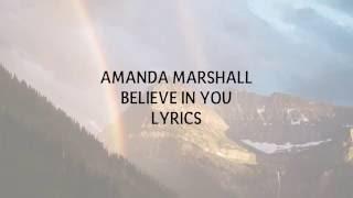 TB: AMANDA MARSHALL - BELIEVE IN YOU LYRICS