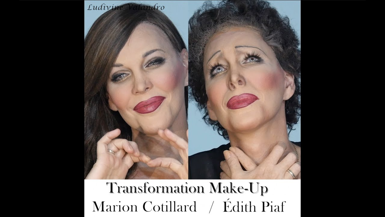 Marion La Mome La Vie En Rose Transformation Make Up Marion Cotillard Edith Piaf Ludivine Valandro