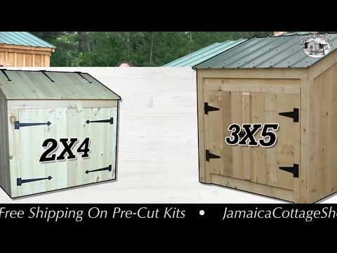 """""""The Garbage Bin"""" - Secure Storage for Garbage, Recycling & Small Tools - 2X4 or 3X5 - DIY or FA"""