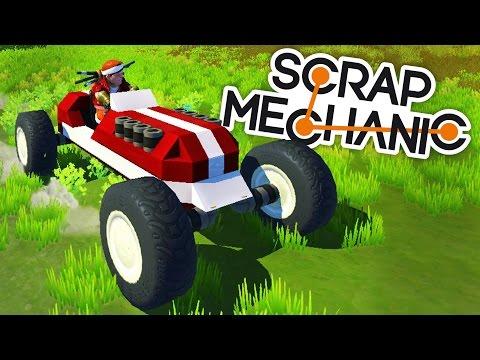Scrap Mechanic Gameplay - Old Timey Racecar! - Let's Play Scrap Mechanic