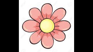 Как легко нарисовать цветок. Видеоурок для начинающих