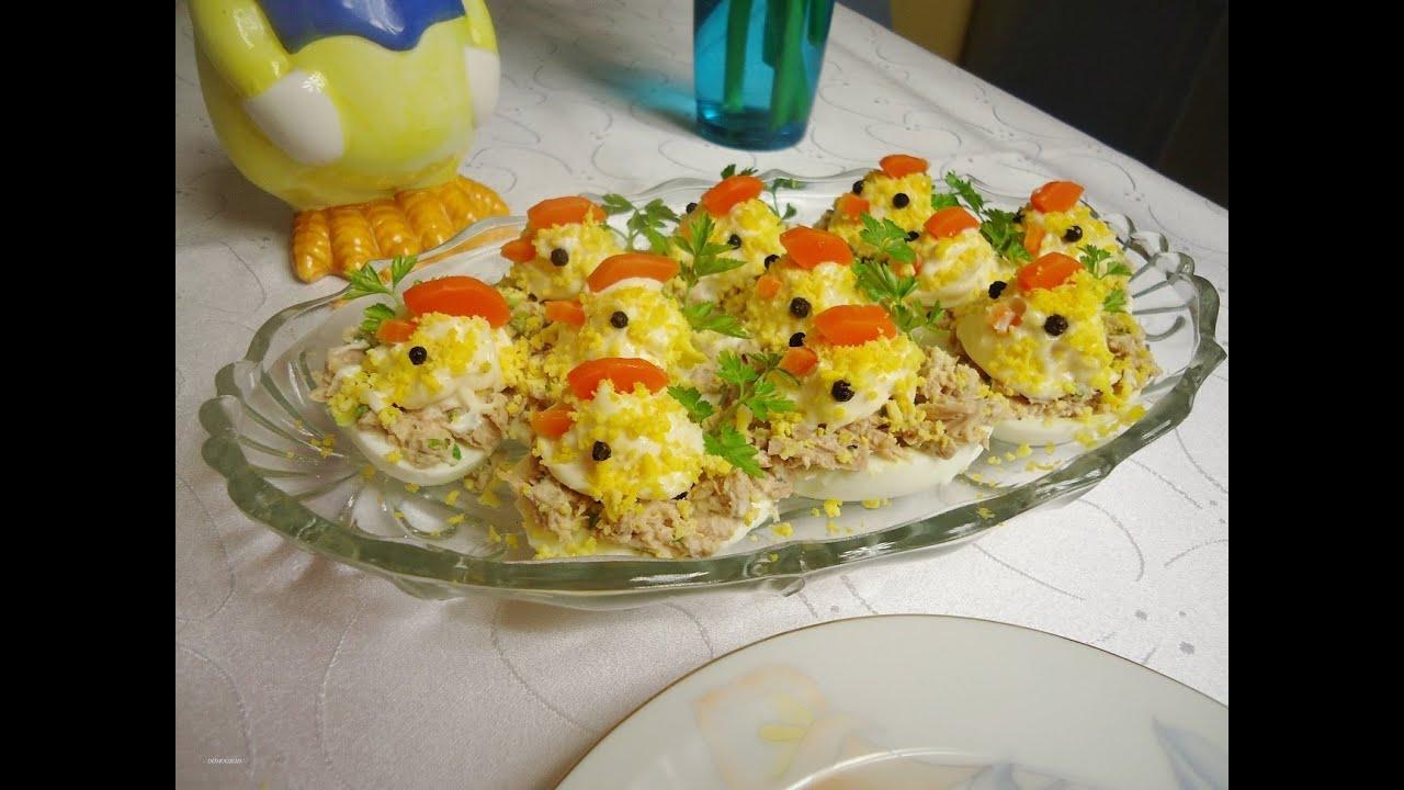Jajka Faszerowane Tuńczykiem Wielkanocne Kurczaczki