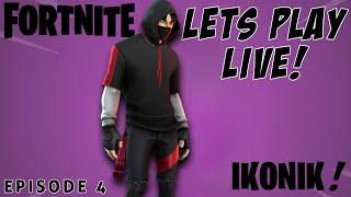 Fortnite surprising people with the lkonik skin LIVE!!!!!