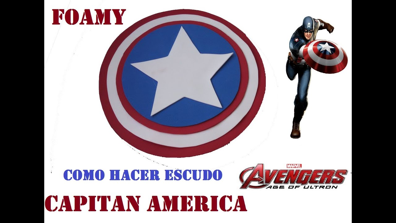 COMO HACER ESCUDO DEL CAPITAN AMERICA CASERO - YouTube