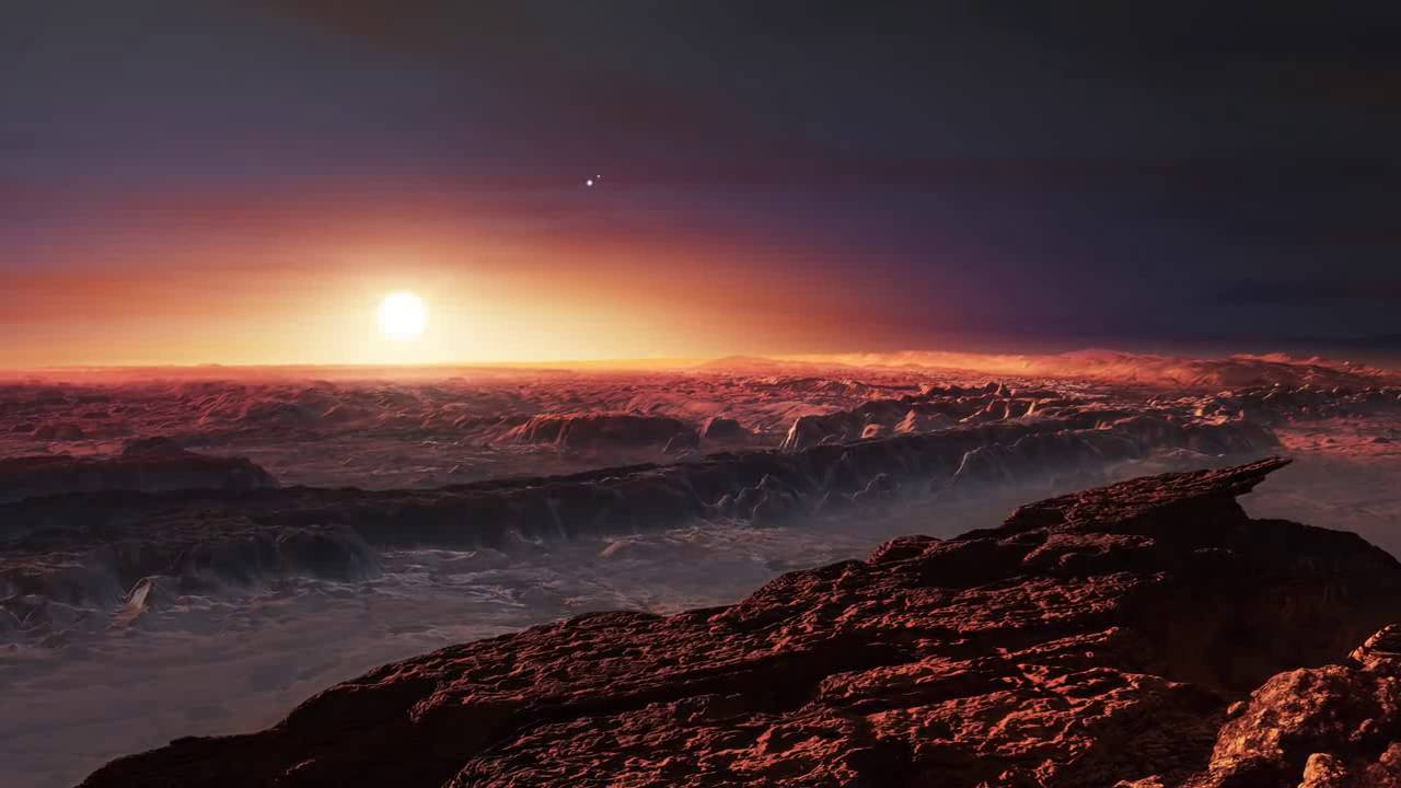 Image result for artist's impression of the surface of Proxima B eso