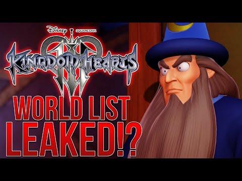 MASSIVE KINGDOM HEARTS 3 LEAK - WORLD LIST REVEALED?! (No Spoilers)
