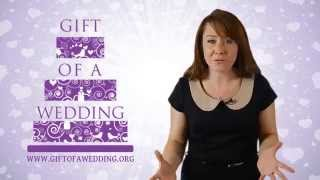 Donating goods and services to Gift of a Wedding - UK charity