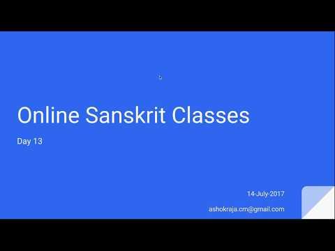 Sanskrit for Beginners by Ashok - Day 13