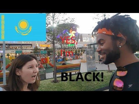 First Black Man In Kazakhstan Speaking Kazakh!| Street Attraction