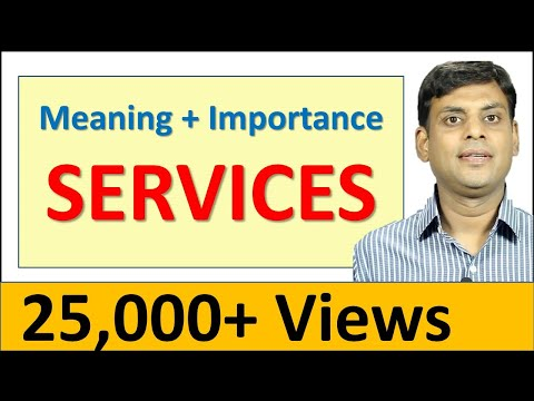 20. Meaning and Importance of Services - Marketing Video Lecture by Prof. Vijay Prakash Anand